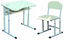 Комплект парта+стілець рег по висоті антисколіоз, кругла труба