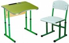 Комплект парта+стул рег по высоте антисколиоз ОПТОМ