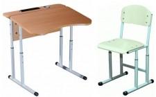Комплект парта+стул рег по высоте антисколиоз