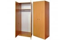 Шафа для одягу з овальною штангою 2-дверна