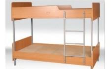 Кровать 2-ярусная с округлениями, на металлическом каркасе
