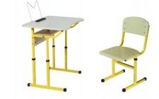 Комплект парта+стілець НУШ р.№3-5 рег. по висоті, рег. кут нахилу