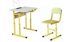 Комплект парта+стілець р.№3-5 рег. по висоті, рег. кут нахилу