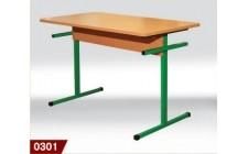 Стол для столовых прямоугольный 4-местный, ростовой №5