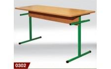 Стол для столовых прямоугольный 6-местный, ростовой №4