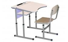 Комплект парта+стілець рег по висоті антисколіоз Сакура Лаванда