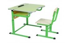 Комплект парта+стілець р.№3-5 рег. по висоті, рег. кут нахилу, Сал-Жовт