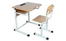 Комплект парта+стілець р.№3-5 рег. по висоті, рег. кут нахилу, Бук