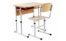 Комплект парта+стілець рег по висоті, сірий каркас