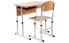Комплект парта+стілець рег по висоті Оптом, сірий каркас