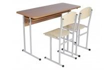 Комплект парта +2 стільці (діти 8-11 клас), сірий каркас