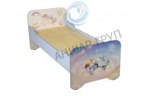 Ліжко дитяче з заокругленням без матрацу, з фотодруком