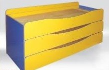 Ліжко дитяче 3-х ярусне без матрацу