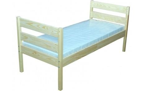 Ліжко дитяче з натуральної деревини (Сосна) без матрацу