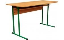 Стіл учнівський 2-місний з полицею (діти 8-11 клас)