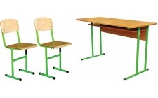 Комплект парта+2 стільці (діти 4-8 клас)
