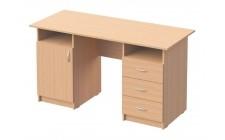 Стіл письмовий 1-дверний, з 3-ма шухлядами