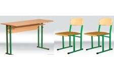 Комплект парта+2 стільці (діти 5-8 клас)