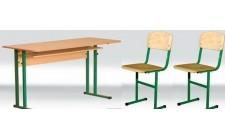 Стіл+2стільці учнівські без полиці (діти 8-11 клас)