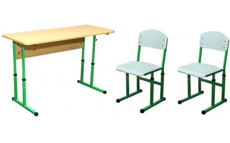 Комплект парта+2 стільці регульовані по висоті