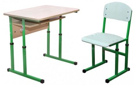 Комплект парта+стілець рег по висоті