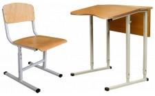 Комплект парта+стілець рег по висоті антисколіоз