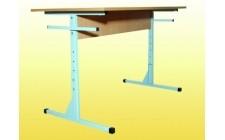 Стол для столовой на швеллере 6-местный рег. по высоте