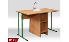 Стол лабораторный, химический с мойкой, пластиковая столешница