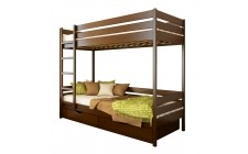 Ліжко Дует з 2ма шуфлядами Масив