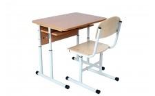Комплект парта+стул рег по высоте, круглая труба