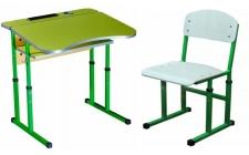 1 - місні шкільні комплекти парта + стілець