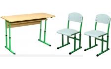 2 - місні шкільні комплекти парта + 2 стільці